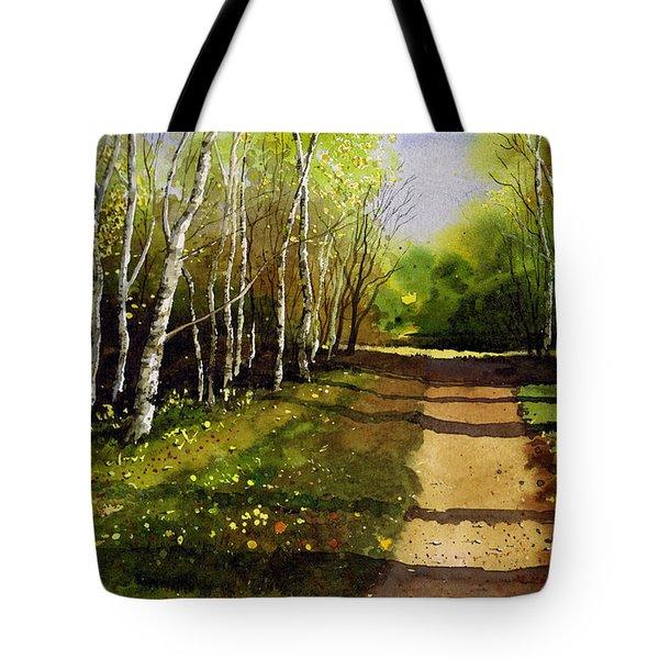 Path Through Silver Birches Tote Bag by Paul Dene Marlor