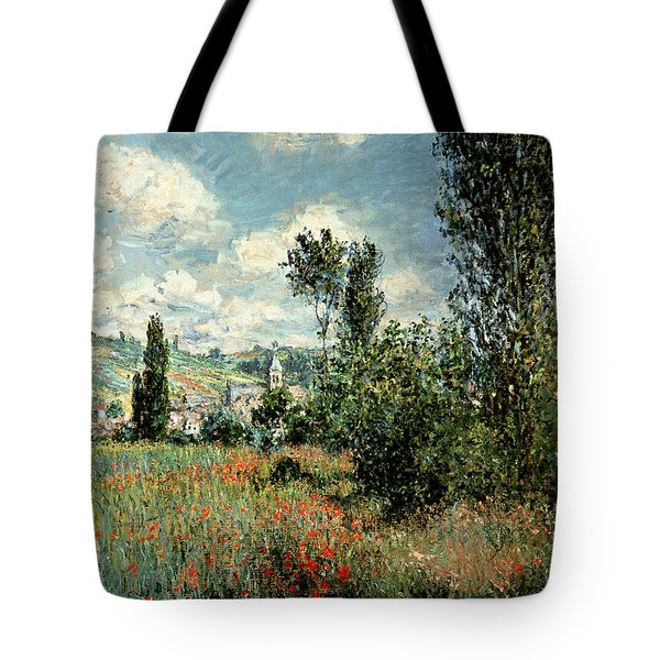 Path Through The Poppies Tote Bag