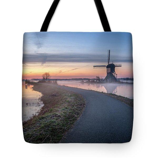 Path Through Windmill City Tote Bag