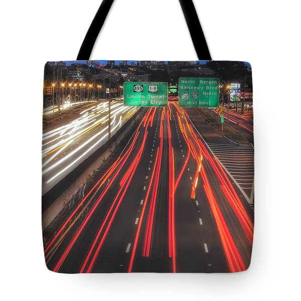 Tote Bag featuring the photograph Path To And From Nyc II by Susan Candelario
