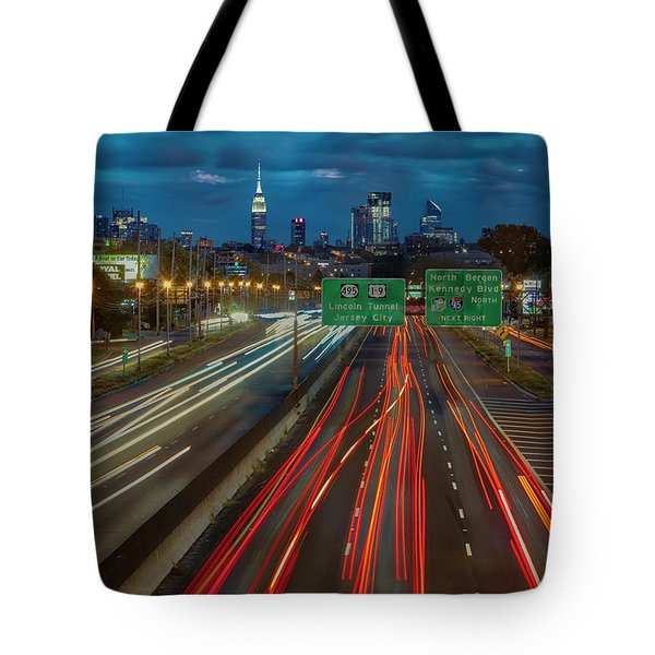 Tote Bag featuring the photograph Path To And From Nyc by Susan Candelario