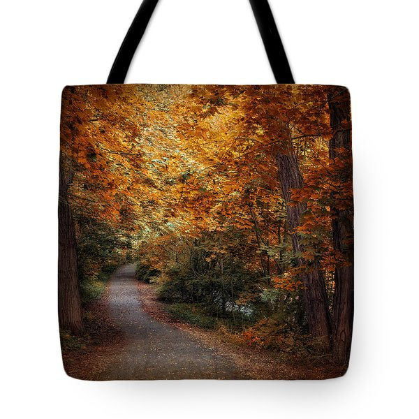 Path To Autumn  Tote Bag by Jessica Jenney