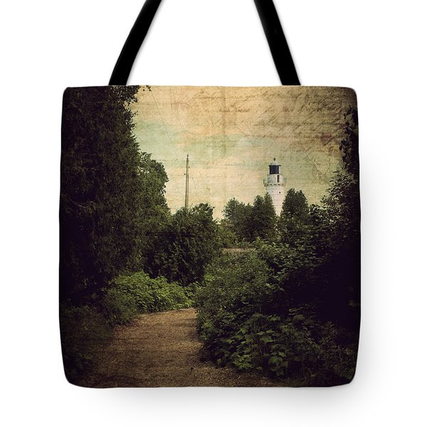 Path To Cana Island Lighthouse Tote Bag