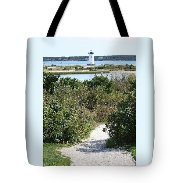 Path To Edgartown Lighthouse Tote Bag