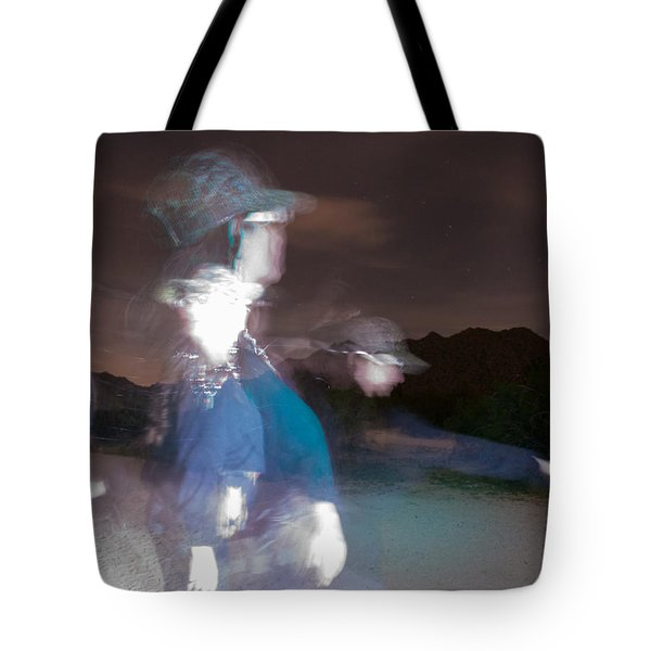 Tote Bag featuring the photograph Path To Freedom A Light Painting  by Carolina Liechtenstein
