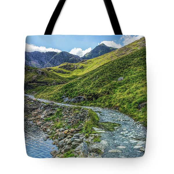 Tote Bag featuring the photograph Path To Snowdon by Ian Mitchell