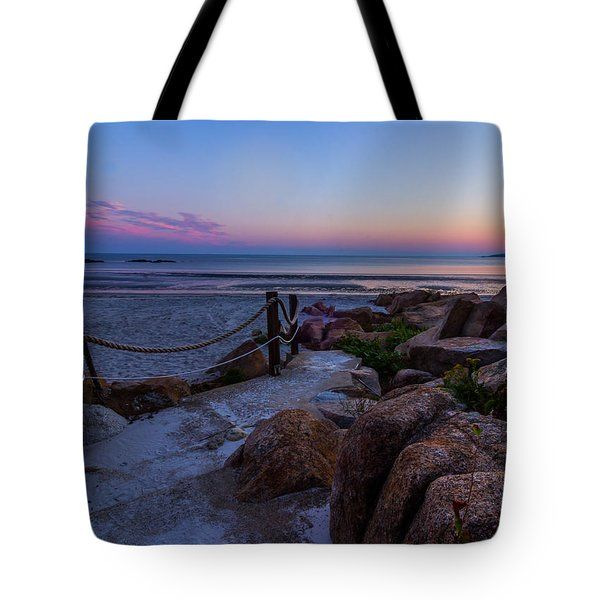 Path To The Beach Tote Bag by Tim Kirchoff