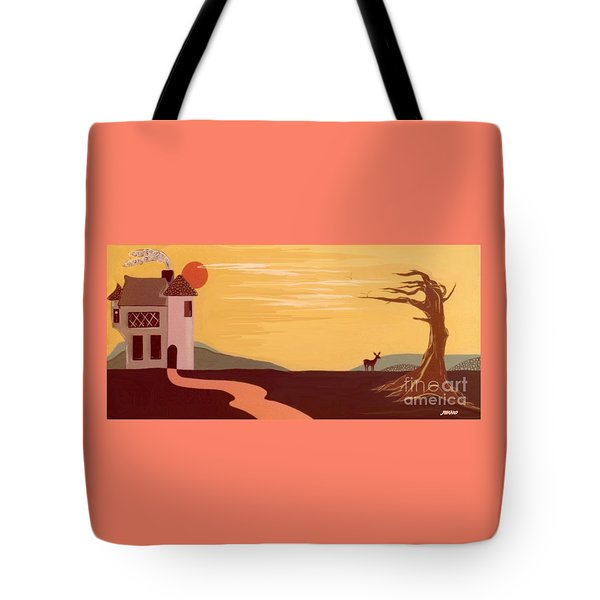 Cartoon Castle Tote Bag