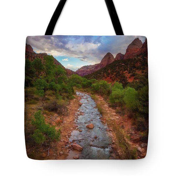 Tote Bag featuring the photograph Path To Zion by Darren White