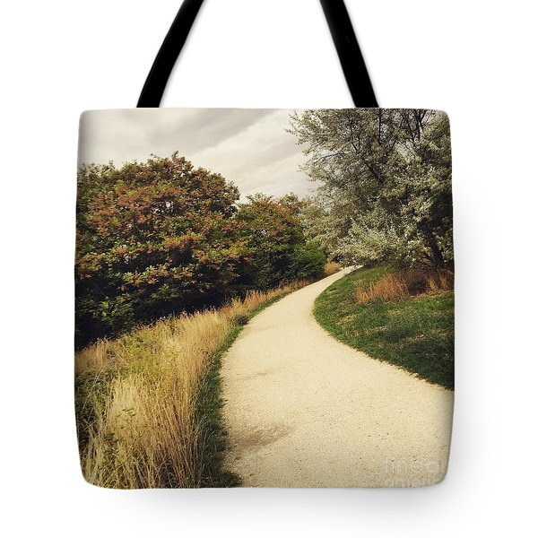 Tote Bag featuring the photograph Pathway by Louise Fahy