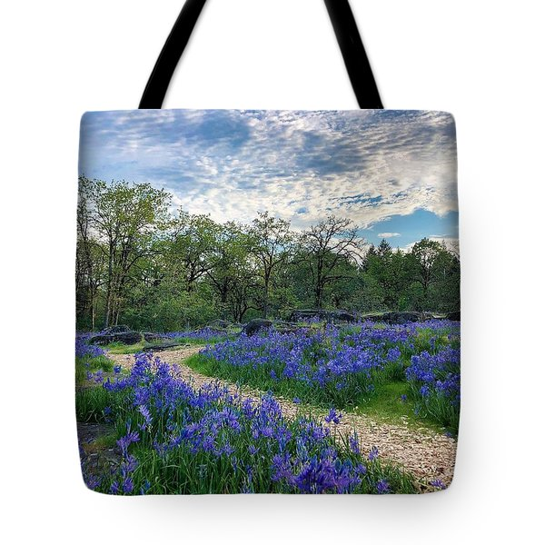 Pathway Through The Flowers Tote Bag