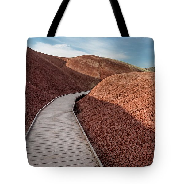 Pathway Through The Reds Tote Bag by Greg Nyquist