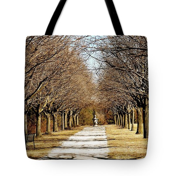 Pathway Through Trees Tote Bag