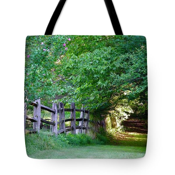 Pathway To A Sunny Summer Morning  Tote Bag