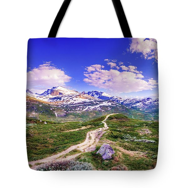 Tote Bag featuring the photograph Pathway To A Valley by Dmytro Korol