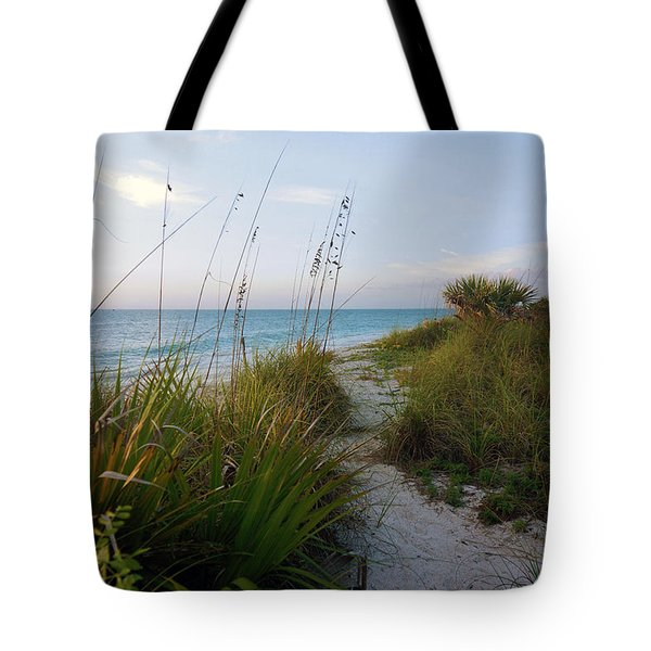 Pathway To Barefoot Beach  In Naples Tote Bag