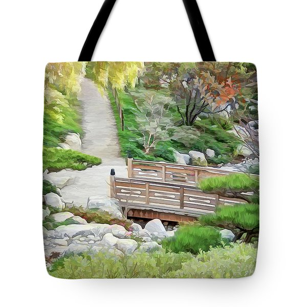 Pathway Trough Japanese Garden Tote Bag