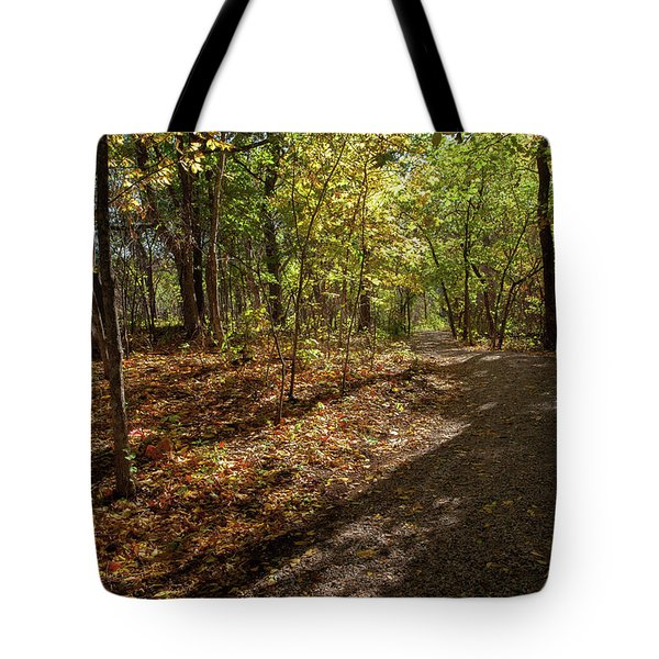 Tote Bag featuring the photograph Pathways In Fall by Iris Greenwell