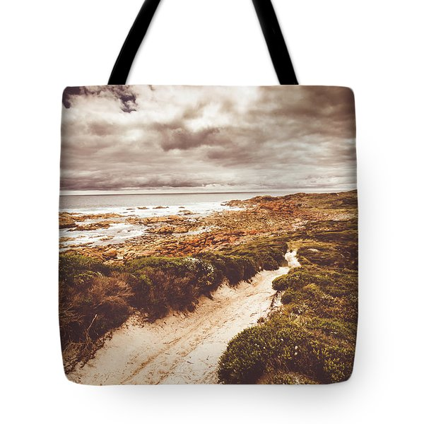 Pathways To Seaside Paradise Tote Bag