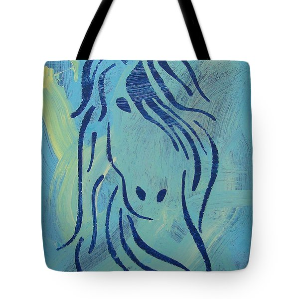 Tote Bag featuring the painting Patience by Candace Shrope