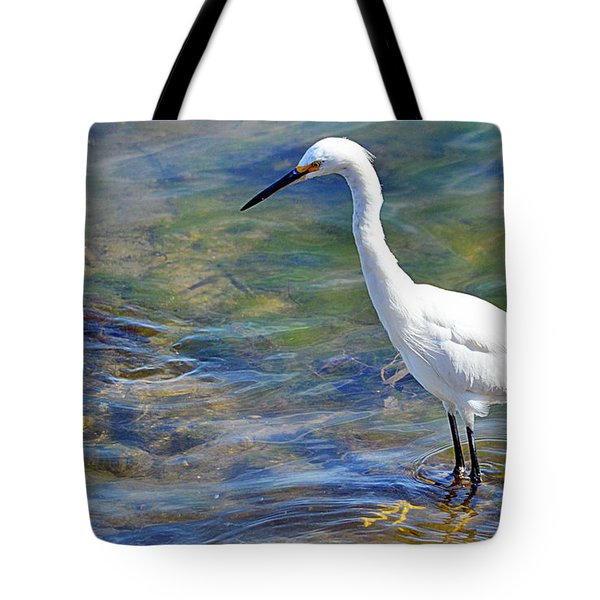 Patient Egret Tote Bag