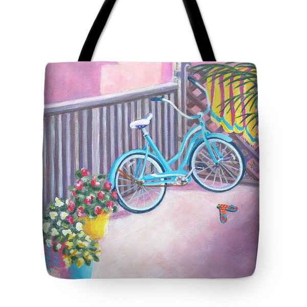 Patio Parking Tote Bag