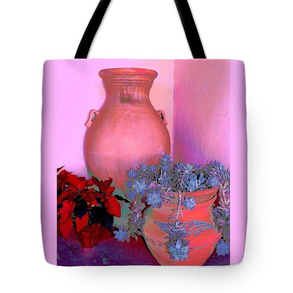 Tote Bag featuring the photograph Patio Pots by M Diane Bonaparte