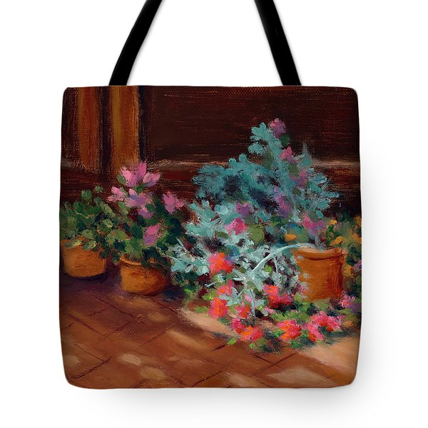 Patio Pots Tote Bag
