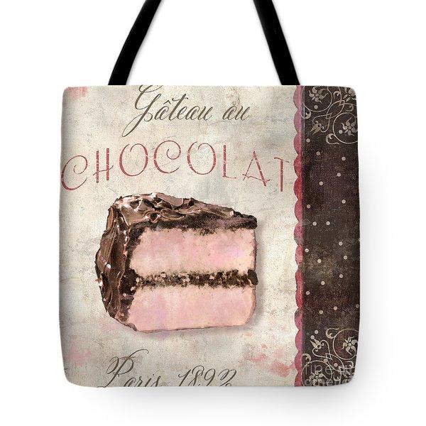 Patisserie Gateau Au Chocolat Tote Bag