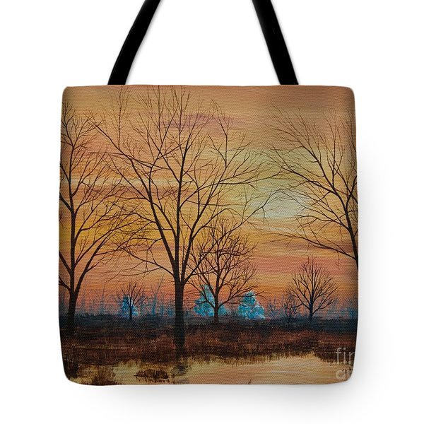 Patomac River Sunset Tote Bag