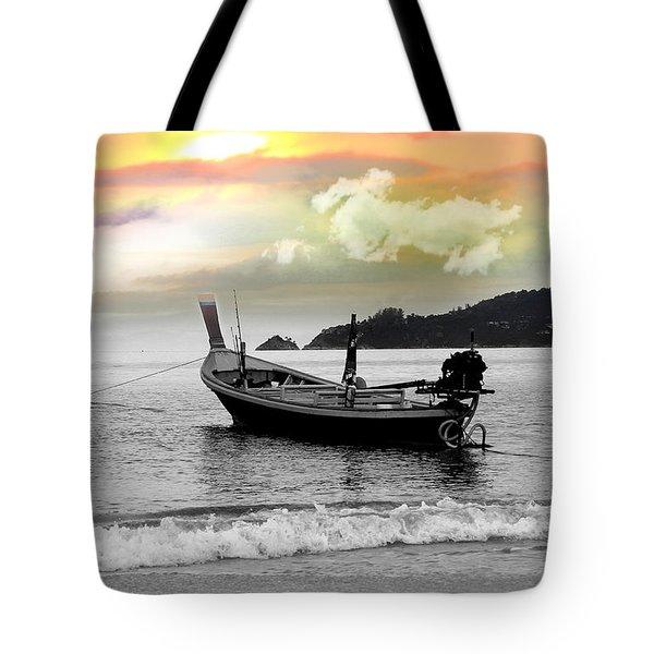 Patong Beach Tote Bag by Mark Ashkenazi