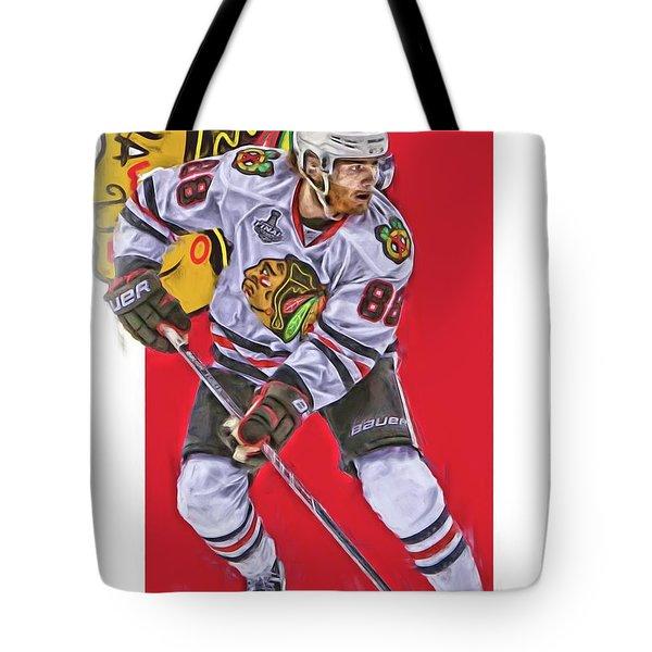 Patrick Kane Chicago Blackhawks Oil Art Series 2 Tote Bag
