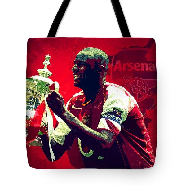 Patrick Vieira Tote Bag by Semih Yurdabak