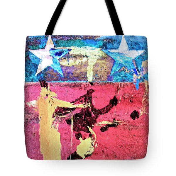 Tote Bag featuring the painting Patriot Act by Dominic Piperata