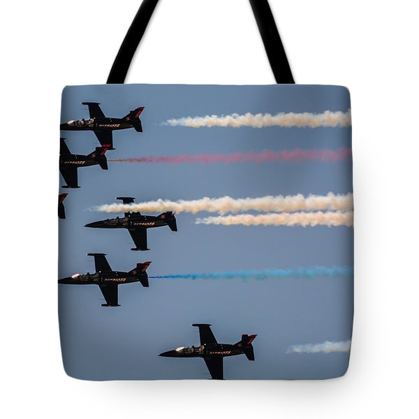 Patriot Aerial Demonstration Team Tote Bag by Tommy Anderson