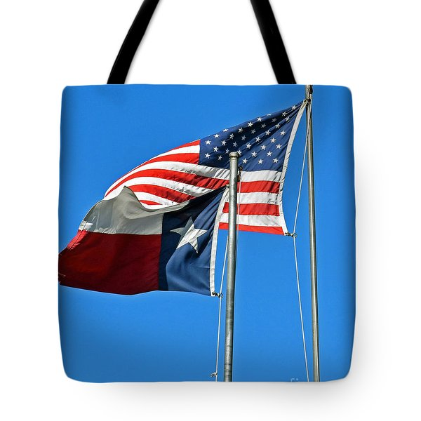 Patriot Proud Texan  Tote Bag