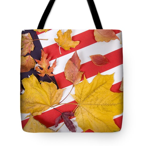Patriotic Autumn Colors Tote Bag by James BO  Insogna