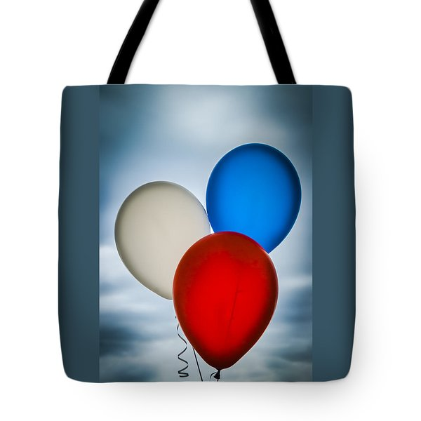 Patriotic Balloons Tote Bag by Carolyn Marshall
