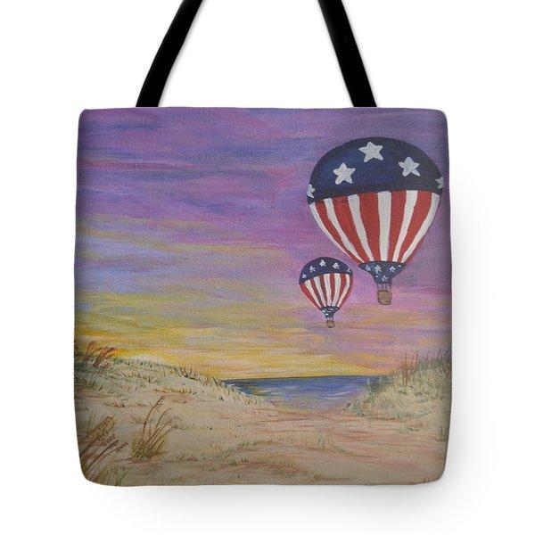 Patriotic Balloons Tote Bag