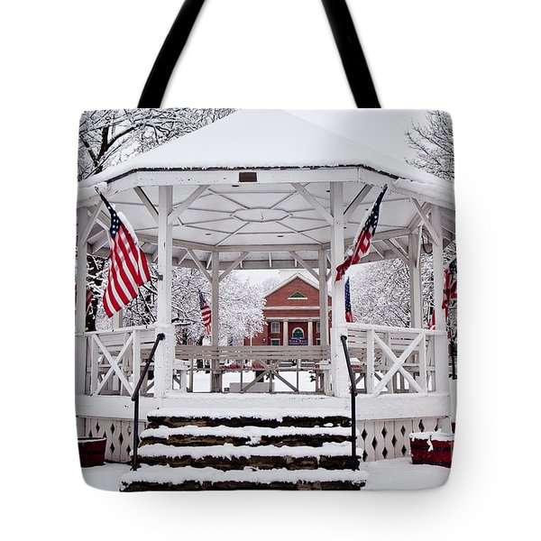Patriotic Bandstand Tote Bag by Susan Cole Kelly