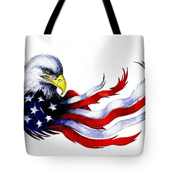Patriotic Eagle Signed Tote Bag