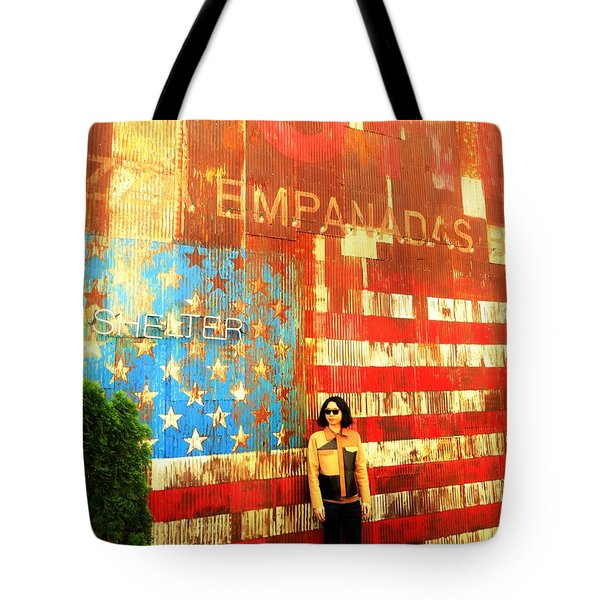 Patriotic Empanadas Wall In New York  Tote Bag