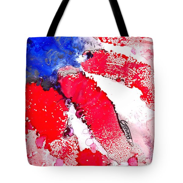 Patriotic Flag Abstract  Tote Bag by GG Burns