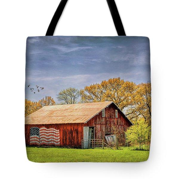 Patriotic Kentucky Barn Tote Bag
