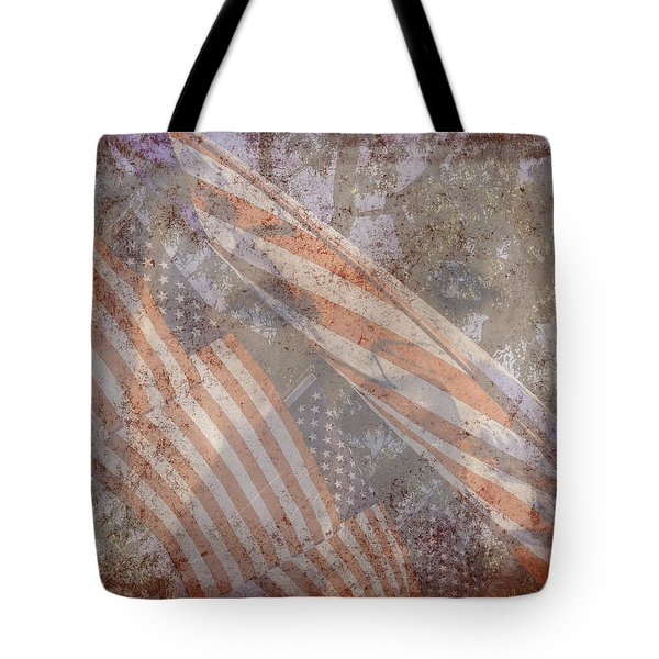 Patriotic Lab Tote Bag by Mary Ward