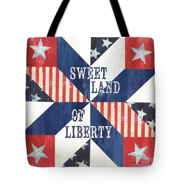 Patriotic Quilt 3 Tote Bag