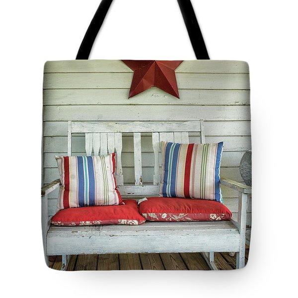Patriotic Shabby Chic Tote Bag