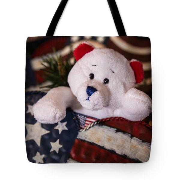 Patriotic Teddy Bear Tote Bag by Lynn Sprowl