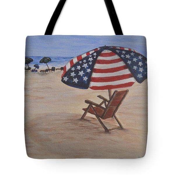 Patriotic Umbrella Tote Bag