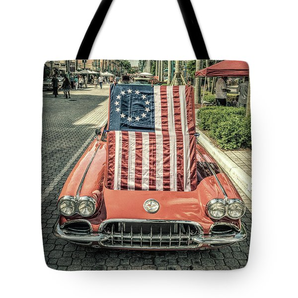 Patriotic Vette Tote Bag